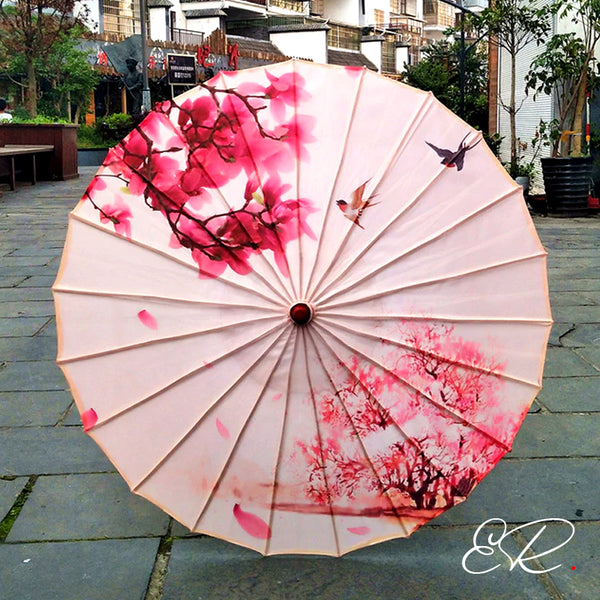 ombrelle chinoise nature rose