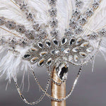 Eventail plume strass
