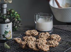 Maple Tahini Oatmeal Cookies