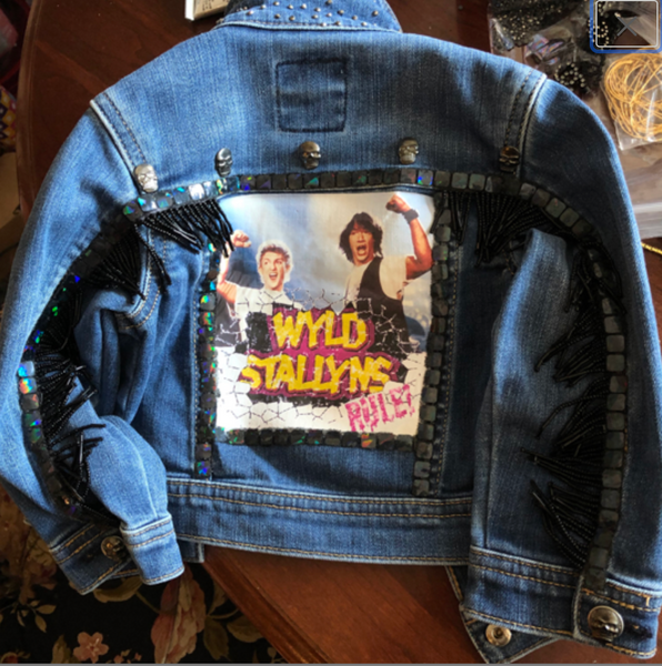 Tiny Toddler Wyld Stallyns Jacket, Bill and Ted's Excellent Adventure Jacket, Kids Keanu Reeves Jacket, 80s Nostalgia, Kids Gifts, Christmas
