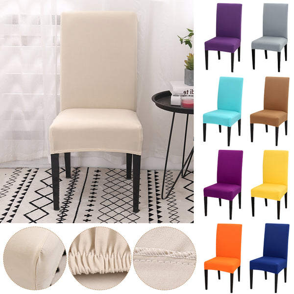 1/2/4pcs Solid Color Chair Cover Spandex Stretch Slipcovers Chair Protection Covers For Dining Room Kitchen Wedding Banquet