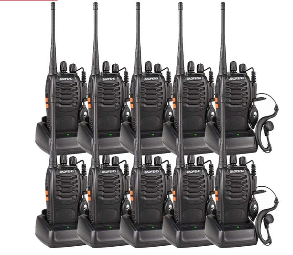 10pcs/lot BAOFENG Walkie Talkie UHF FM Transceiver  400-470MHz 16CH Two Way CB Radio - Sale Ends 11/17/2019