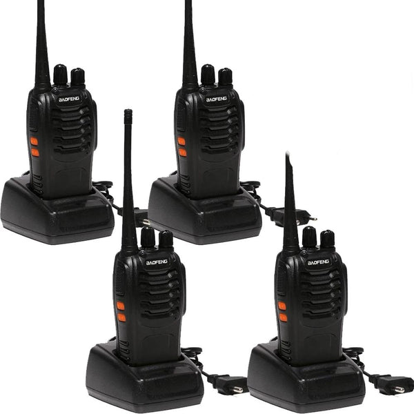 2 PCS 4 PCS Baofeng BF-888S Walkie Talkie  UHF 5W 400-470MHz 16CH Two Way Scan Monitor CB Radio