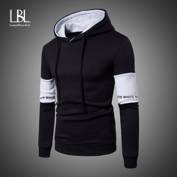2019 Casual men's fashion hooded Sweatshirt Sportswear