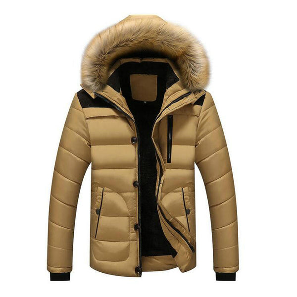 Winter Jackets Men's Coats Male Parkas Casual Thick Outwear Hooded Fleece Jackets Warm Overcoats Mens Clothing