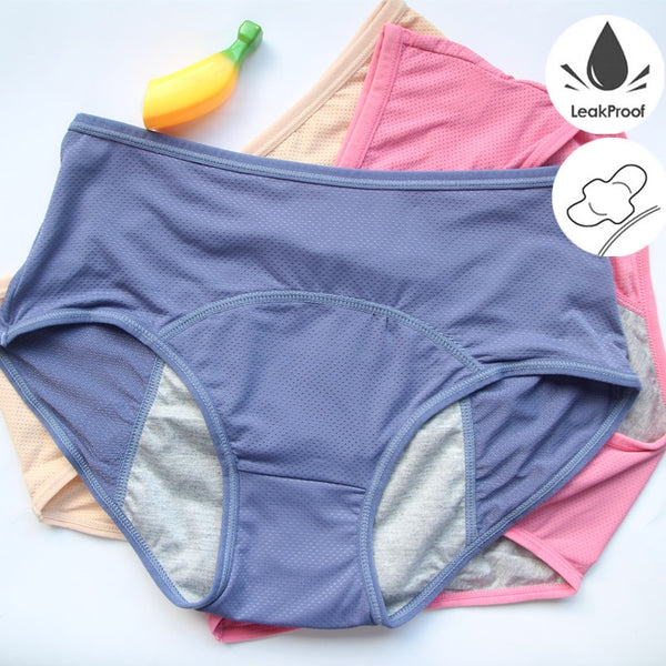 3PCS/Lot Leak Proof Menstrual Panties Physiological Panty Women Underwear Period Cotton Waterproof Briefs Dropshipping HP21H