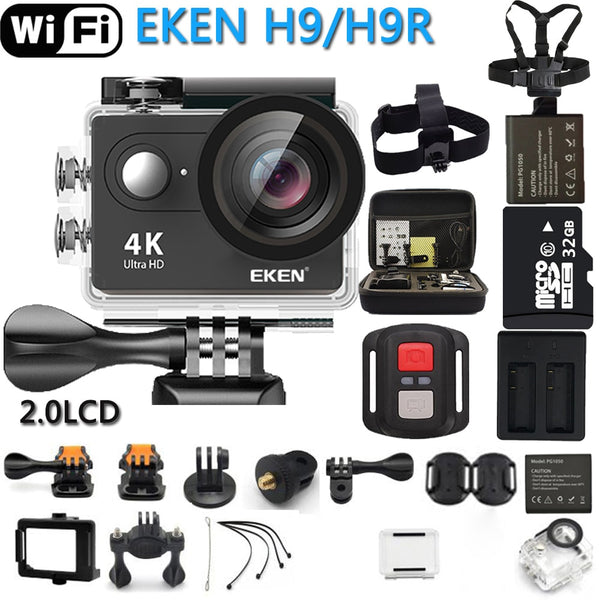 Camera EKEN Action  H9R / H9 Ultra HD 4K WiFi Remote Control Sports Video Camcorder DVR DV go Waterproof pro Camera