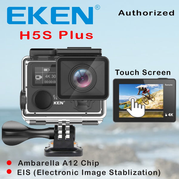 Camera EKEN H5S Plus Ultra HD Action Camera Touch Screen Ambarella A12 EIS 4k/30fps 720p/200fps 30M waterproof go Helmet pro sport cam