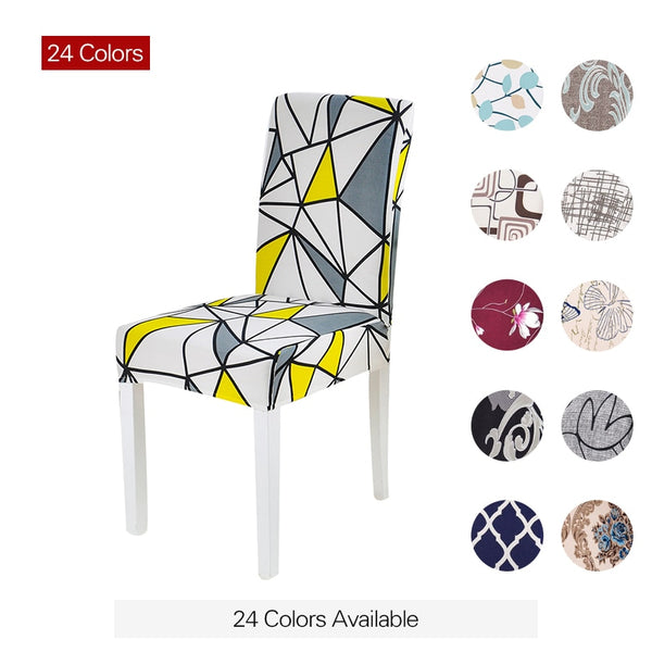 Floral Print Chair Cover Home Dining Elastic Chair Covers Multifunctional Spandex Elastic Cloth Universal Stretch 1 Piece