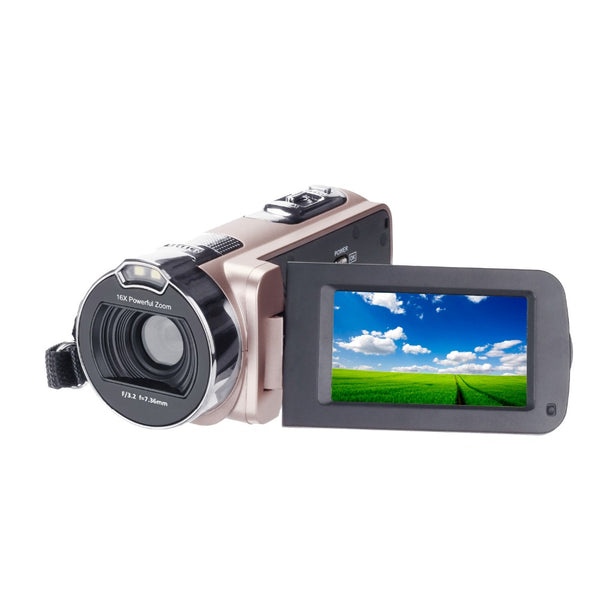 "Camcorder HD Digital Camera Professional 16X Zoom  Digital Video Camera Camcorder Photo DSLR Camera DV 3.0"" LCD Touch Screen with Remote"