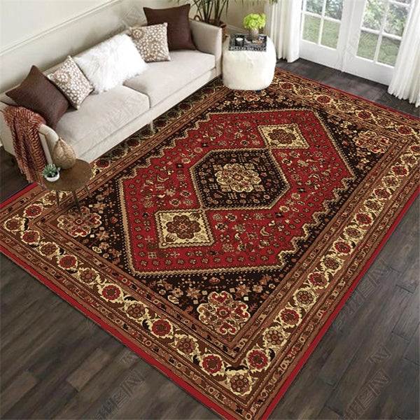 Large Area Rugs Persian Style National Printed Carpets For Living Room Bedroom Anti-Slip Floor Mat Kitchen Tapete