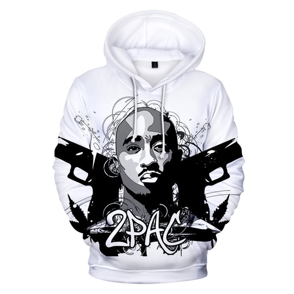 Hip Hop Gangsta Rap 2Pac Hoodies Mens Sweatshirt Hoodie Men/Women 2Pac Tupac High Quality Hoody Polluver Winter Cap Clothing