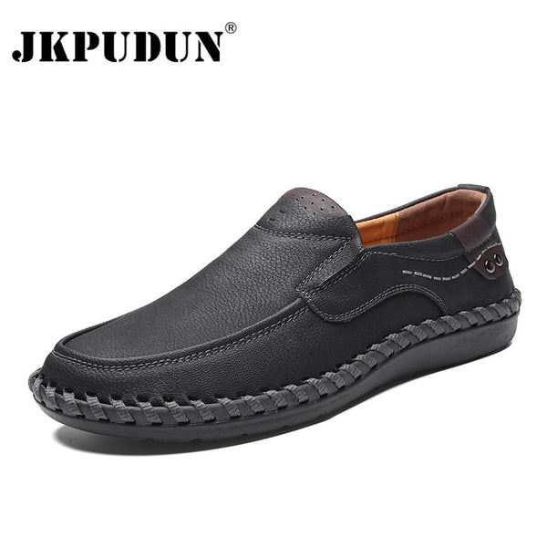 Men's Genuine Leather Dress  Shoes Loafers Breathable Slip on