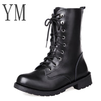 Lace Up Ankle Boots Women Soft Leather Fashion Square Heel Woman Shoes Winter Boots Women