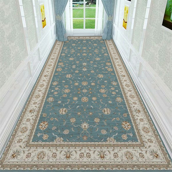 Luxury Long Area Rug Persian Style Stair Carpet Home Entrance Hallway Corridor Carpet