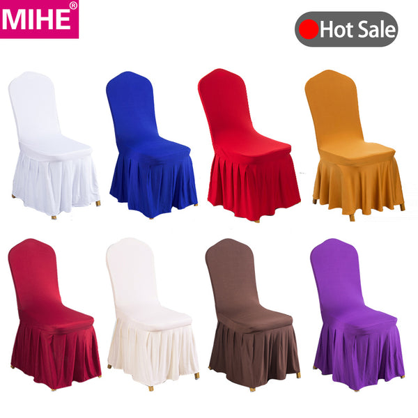 MIHE Modern Banquet Decoration Chair Cover Spandex Elastic Chair Covers For Weddings Hotel Kitchen Dining Seat Covers YZT08