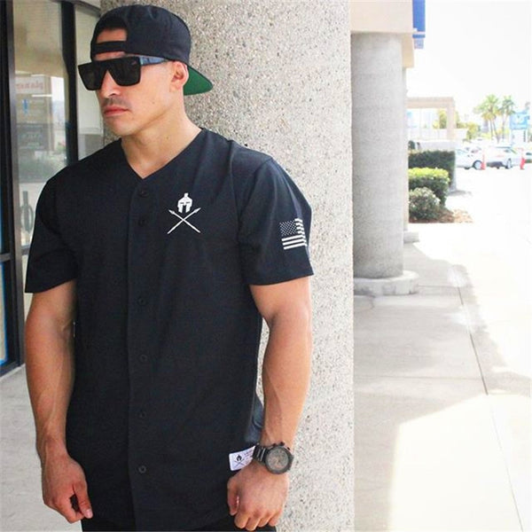 Men's Summer Brand Fitness T-Shirt Casual Fashion Bodybuilding T-Shirt Compression Short Sleeve T-Shirt Tights Sports Top