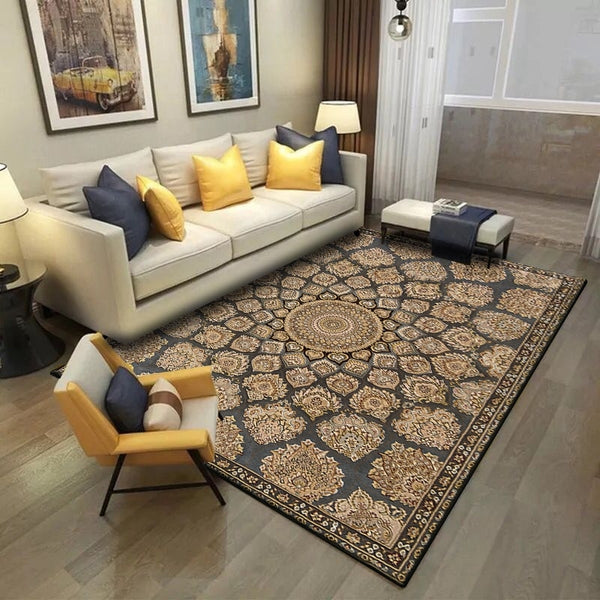 Persian Style Rock Print Rug for Living Room  or  Dinning Room Home Decor Non-Slip Floor Mat