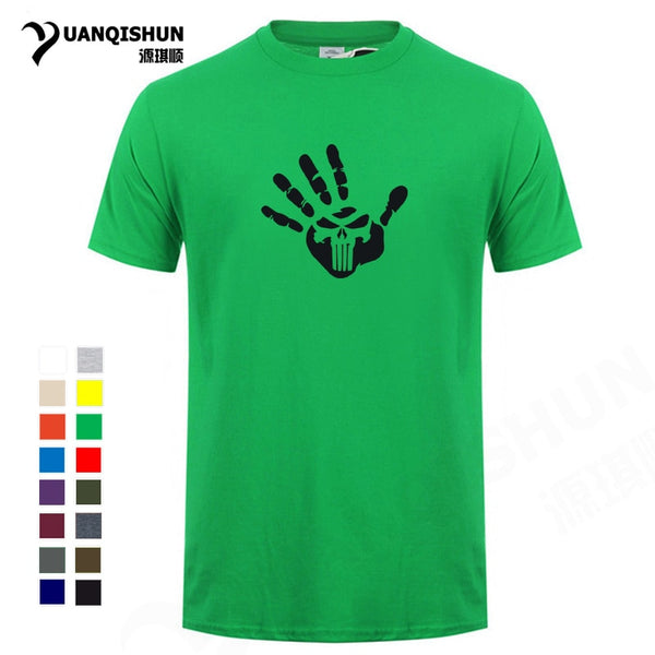 Personalized Handprint Punishment Skull T-shirts Summer Hot Men Casual tshirt Novelty Design Fashion Tee Cotton Unisex T Shirts