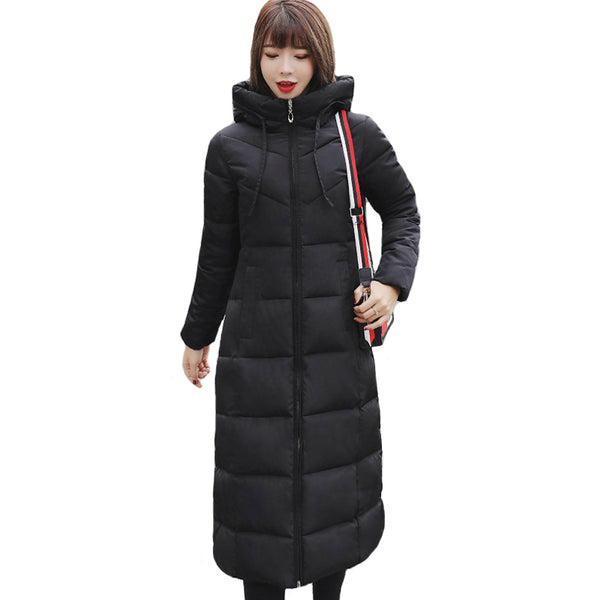 Plus Size 4XL 5XL 6XL womens Winter Jackets Hooded Stand Collar Cotton Padded Female Coat Winter Women Long Parka Warm Thicken