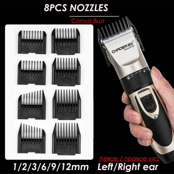 Professional Ultra-low Mute USB Rechargeable Hair Clipper Trimmer Salon Accessories for Men Shaver Electric Barber Accessories