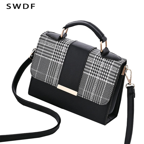 SWDF Women's Handbags For Travel PU Shoulder Bag Small Flap Crossbody Bags For Women Purse