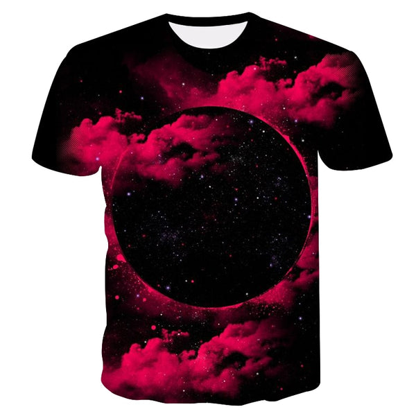 Space galaxy t-shirt for men 3d t-shirt funny printing cat horse shark cartoon fashion summer t shirt tops tees plus size