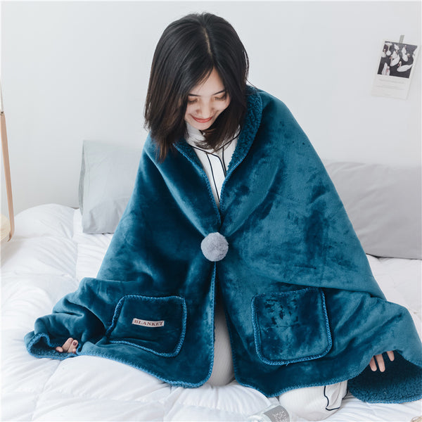 Velvet Plush Blanket Thick Soft wrap around warm blanket  Cashmere Fleece