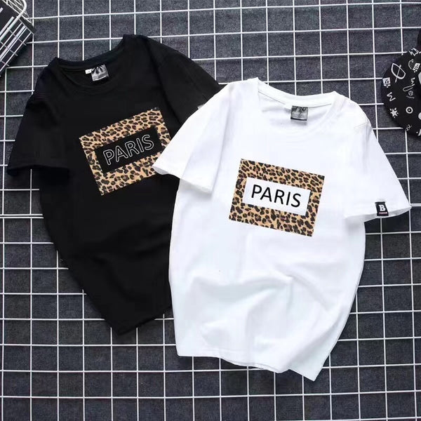 WSFS T Shirt Women Summer Short Sleeves Tee Shirts Tops Harajuku Leopard Print Tshirt 65% Cotton Ulzzang T-shirt Women Plus Size