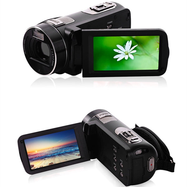 Camcorder Black Gold Portable Full Hd 1080p Night Vision Digital Video Camera with Remoter Camcorders Home Outdoor Traveling Use