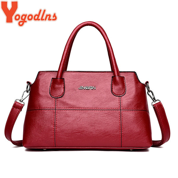 Yogodlns women solid totes handbag high quality purse casual crossbody r shoulder bag
