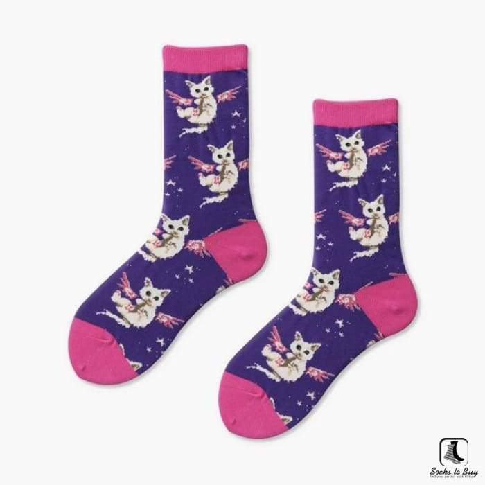 Angel Kitty Socks - Socks to Buy 1