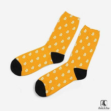 Load image into Gallery viewer, Bold Bitcoin Mens Cotton Crew Leisure Dress Socks - Socks to Buy 2