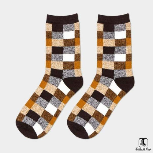 Chickety Check Leisure Dress Socks - Socks to Buy 1