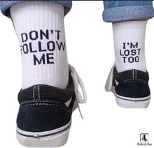 Load image into Gallery viewer, Dont Follow Me Crew Socks - Socks to Buy 6