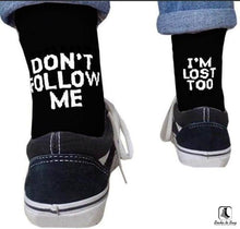 Load image into Gallery viewer, Dont Follow Me Crew Socks - Socks to Buy 2