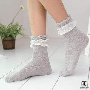 Double Lace Ruffle Ankle Socks - Socks to Buy 2