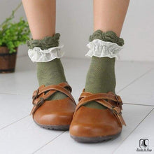 Load image into Gallery viewer, Double Lace Ruffle Ankle Socks - Socks to Buy 3