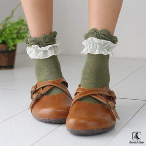 Double Lace Ruffle Ankle Socks - Socks to Buy 3