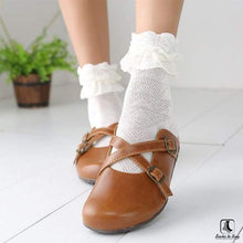 Load image into Gallery viewer, Double Lace Ruffle Ankle Socks - Socks to Buy 1