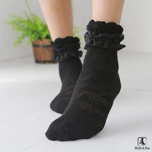 Double Lace Ruffle Ankle Socks - Socks to Buy 5