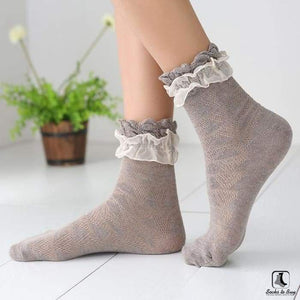 Double Lace Ruffle Ankle Socks - Socks to Buy 6