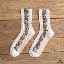 Load image into Gallery viewer, Flowers and Whimsy Socks - Socks to Buy 4