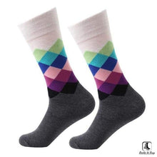 Load image into Gallery viewer, Gradient Color Chevron Combed Cotton Socks - Socks to Buy 6