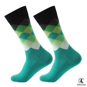 Gradient Color Chevron Combed Cotton Socks - Socks to Buy 3