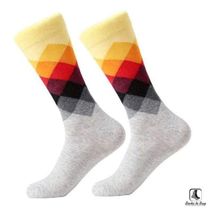 Gradient Color Chevron Combed Cotton Socks - Socks to Buy 2