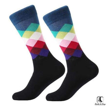 Load image into Gallery viewer, Gradient Color Chevron Combed Cotton Socks - Socks to Buy 8