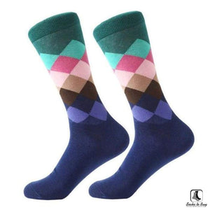 Gradient Color Chevron Combed Cotton Socks - Socks to Buy 7