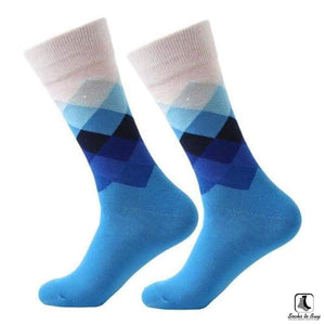 Gradient Color Chevron Combed Cotton Socks - Socks to Buy 5
