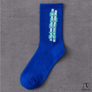 Imperative Statements Wordy Cotton Crew Socks - Socks to Buy 1